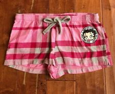 Universal Studios Betty Boop Flannel Pajama Shorts Bottoms Sz Small Pink EUC