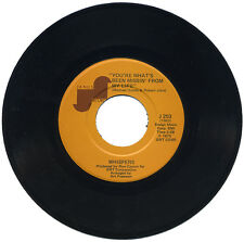 """WHISPERS  """"GIVE A LITTLE LOVE c/w YOU'RE WHAT'S BEEN MISSIN' FROM MY LIFE""""  70's"""