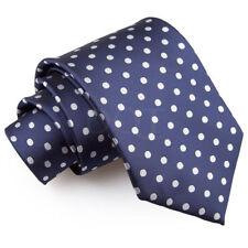 Cravatta da uomo blu in microfibra