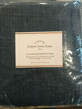 "Pottery Barn Belgian Linen Curtain Libeco Linen Blackout Lining 108"" Midnight"