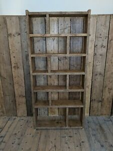 ZIG ZAG - NO NUMBERS - pigeon holes reclaimed wood industrial rustic gplanera