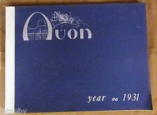 AVON 1931 REPRINT SALES CATALOG BROCHURE ADS INFORMATION BOOKLET makeup perfume