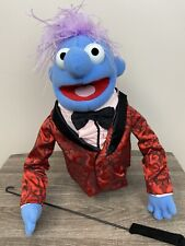 Disney FAO Schwarz Whatnot Workshop Muppets Blue Puppet with dress jacket & tie