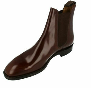 Mens Brown Hi Shine Leather Loake Ankle Boot G Fitting : 290T