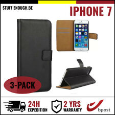 3IN1 Wallet Case Cover Cas Coque Etui Portefeuille Hoesje Black For iPhone 7