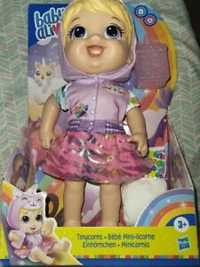 Baby Alive Tinycorns Doll Unicorn Accessories Drinks Wets New