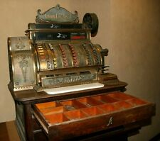 Antique Original 3 Drawer Quartersawn Oak Brass Bronze National Cash Register
