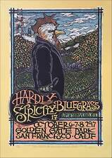 Hardly Strictly Bluegrass Poster Orig Silkscreen S/N 650 COA Signed Gary Houston