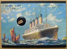 Titanic 100 Years Commemorative - Artifact Card RMS-O - Wood from RMS Olympic