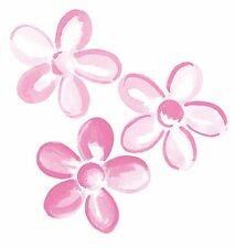 25 Pretty Pink Modern Fun Flower's Wallies Wall Cutouts Flower Decals Stickers