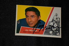JIM NEILSON 1963-64 TOPPS SIGNED AUTOGRAPHED CARD #50 RANGERS