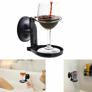 Bath & Shower Cup holder Caddy Beer & Wine Suction Cup Drink Shower Beer Holder