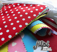 20FT VALUE HANDMADE FABRIC PARTY BUNTING, MULTI COLOURED, ALL OCCASIONS, NEW!