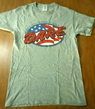 DARE small beat-up T shirt Drug Abuse Resistance Education logo Monroe County