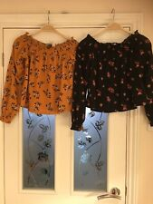 Ladies Clothes Size Small H&M Divided 2x Tops (751)