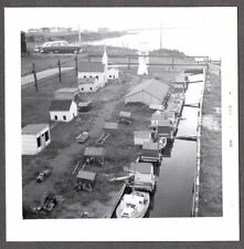 VINTAGE 1960 MINIATURE FISHING VILLAGE BELLE COTE NOVA SCOTIA CANADA OLD PHOTO
