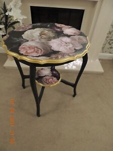 Pie crust circular Coffee table side table occasional table