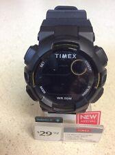 Timex TW5M23600, Unisex MAKO DGTL Black Resin Watch, Indiglo, Day/Date, Alarm
