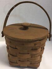 Longaberger*1984*Measurin g Basket with Swing Handle, Protector & Lid 17292Z S109