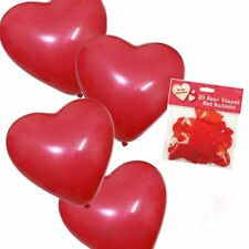 Valentines Day 20 Pack Red Romantic Love Heart Shape Balloons Wedding Party