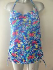 736919397f43b V by Very Tanksuit Swimsuit Blue Floral Swimming Costume Size 18 Nes