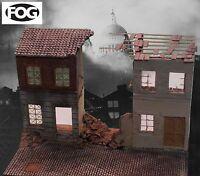 1/35 Scale Large WW2 Bombed Terrace & Street diorama kit