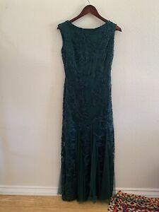 NWT Onyx Nite Hunter Green Lace Dress - Size 4
