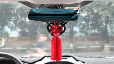 A Set Car Rearview Mirror Charms Vip Gift Black Kin Rope & Red Chinese Knot