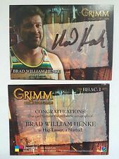 GRIMM SEASON 1 AUTOGRAPH CARD Brad William as Hap Lasser