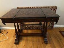 antique flip top game table Theodore Alexander