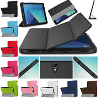 """Leather Slim Smart Cover Stand Case For Samsung Galaxy Tab S3 9.7"""" T820 T825 UK"""