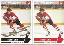 1976 Canada Cup Bobby Orr Factory Gold Foil Autograph  Card # 126