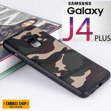 Cover Custodia Samsung GALAXY J4 PLUS MIMETICA Militare Morbida Silicone Tpu