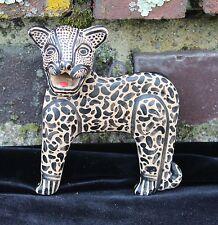 # 3 Jaguar Wall Sculpture Amatenango Hand made & Painted Chiapas Mexico Folk Art