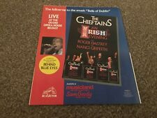 """(RSM22) ADVERT/POSTER 12X10"""" THE CHIEFTAINS : AN IRISH EVENING WITH ROGER DALTRY"""