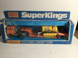 Matchbox Superkings K23 Low Loader With Bulldozer Near Mint In box