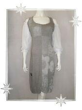B - Jolie Robe Fantaisie Grise Blanche Bi Matière  Mod. Box   2026 Taille 3