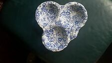 JAMES KENT OLD FOLEY 18TH CENTURY CHINTZ BLUE 3 PART serving dish staffordshire