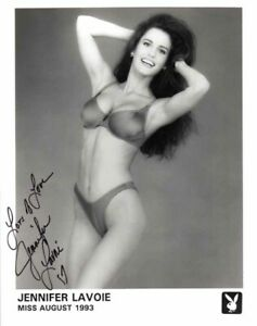 JENNIFER LAVOIE SIGNED AUTOGRAPHED 8x10 PLAYBOY PLAYMATE PROMO PHOTO BECKETT BAS
