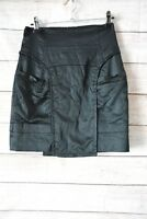 Cue Skirt Sz 8 Small Black Pencil Skirt Exposed Zip