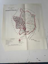 1917 Monmouthshire Wales Map Ordnance Survey Office Boundary Commission