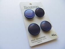 1960s Vintage Beutron Moonglow Purple Dress Collectible Buttons in Card-18mm