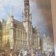 Le marché dominical Grand Place de Bruxelles – 1887 – signé « Ch Dommershuizen -