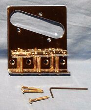 New Chrome Vintage Style Replacement Bridge For Fender Telecaster Guitar