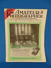 Magazine The Amateur Photographer 1936 London England articles camera ads film