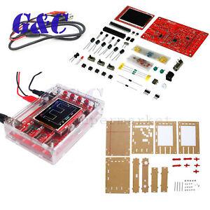 "DSO138 2.4"" TFT Digital Oscilloscope Soldered Acrylic Case DIY Kit Module"