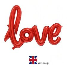 75cm LOVE LETTER FOIL BALLOON Inflatable Balloons Valentines Day Gift VAL2712 UK