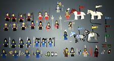 LEGO Lot of 32 Rare Classic Castle Knight Minifigures and 4 horses w/ weapons