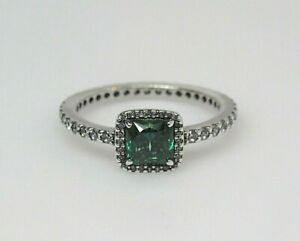 New w/Box Pandora Green Timeless Elegance CZ  Ring 190947GCZ A Beauty! Pic Size