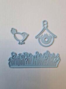 Marianne Design Small Birdhouse/Bird/Grass Die Cutter  Lightly Used